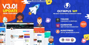 Olympus v3.9.9 – Powerful BuddyPress Theme for Social Networking