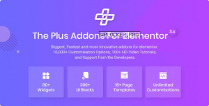 The Plus v4.1.4 – Addon for Elementor Page Builder WordPress Plugin