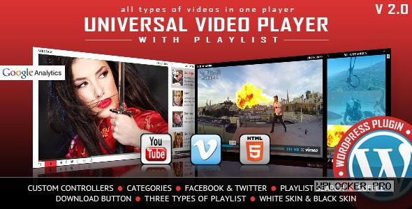 Universal Video Player v3.4 – WordPress Plugin