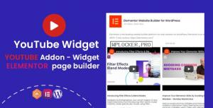 YouTube Widgets v1.0.1 – Addon for elementor page builder