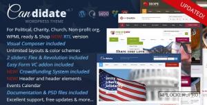 Candidate v6.7 – Political/Nonprofit WordPress Theme