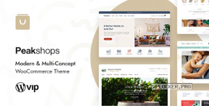 PeakShops v1.4.6 – Modern & Multi-Concept WooCommerce Theme