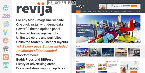 Revija v3.5 – Blog/Magazine WordPress Theme