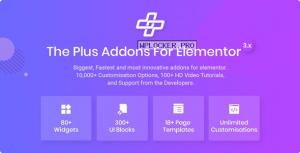 The Plus v4.1.8 – Addon for Elementor Page Builder WordPress Plugin