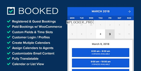Booked v2.3.5 – Appointment Booking for WordPress