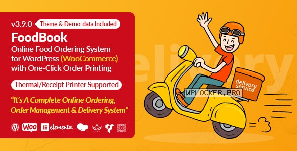 FoodBook v3.9.0 – Online Food Ordering System for WordPress with One-Click Order Printing