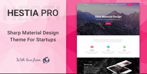 Hestia Pro v3.0.16 – Sharp Material Design Theme For Startups