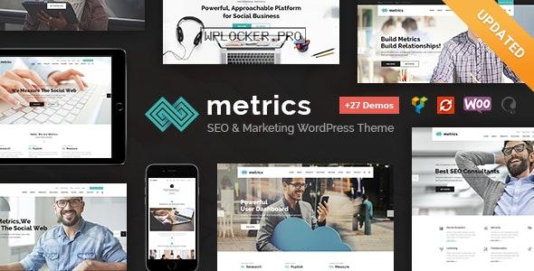 Metrics v2.3 – SEO, Digital Marketing, Social Media WordPress Theme