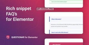 Questionar v1.1.1 – FAQ Accordions for Elementor