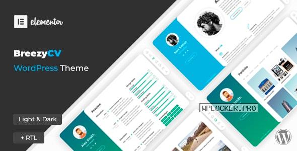 BreezyCV v1.5.2 – CV Resume Theme
