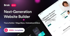 Brisk v2.1.1 – Multi-Purpose Elementor WordPress Theme