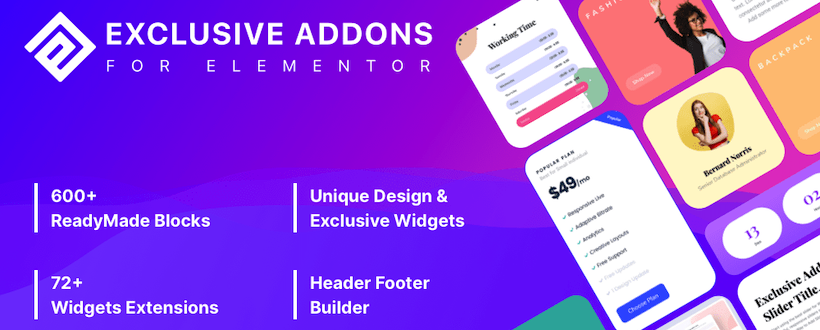 Exclusive Addons Pro for Elementor v1.2.0