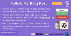 Follow My Blog Post WordPress Plugin v2.0.6