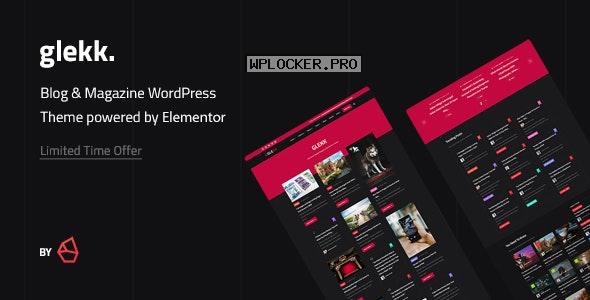 Glekk v1.2 – Elementor Blog & Magazine WordPress Theme