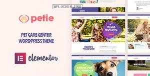 Petie v1.1.0 – Pet Care Center & Veterinary WordPress Theme