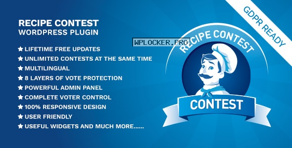 Recipe Contest WordPress Plugin v1.1