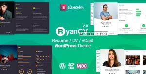 RyanCV v2.0.7 – Resume/CV/vCard Theme