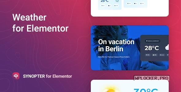 Synopter v1.0.2 – Weather for Elementor