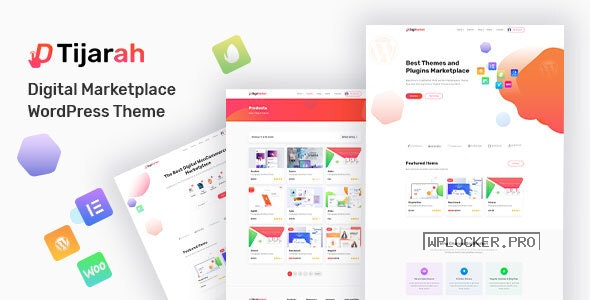 Tijarah v1.3.4 – Digital Marketplace WooCommerce Theme