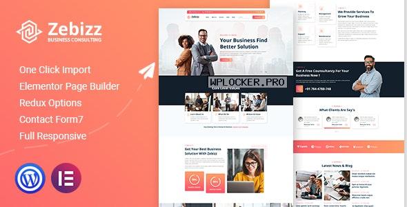 Zebizz v1.0 – Business Consulting WordPress Theme
