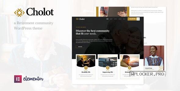 Cholot v1.1 – Retirement Community WordPress Theme
