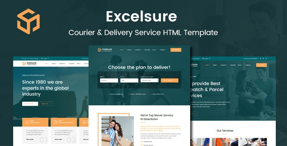 Excelsure v1.0 – Courier Delivery WordPress Theme