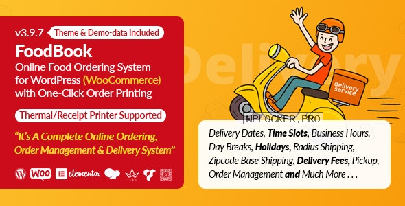 FoodBook v3.9.7 – Online Food Ordering System for WordPress with One-Click Order Printing
