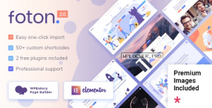 Foton v2.2 – A Multi-concept Software Landing Theme NULLED