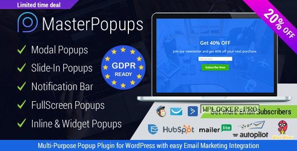 Master Popups v3.7.1 – Popup Plugin for Lead Generation