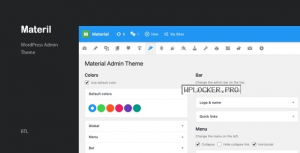 Materil v1.3.0 – WordPress Material Design Admin Theme