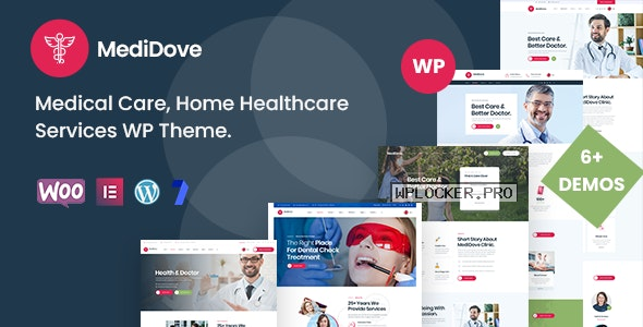 MediDove v2.1.0 – Medical Care, Home Healthcare Service WP Theme + RTL