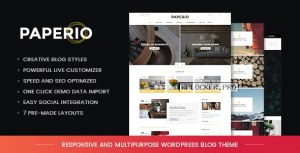 Paperio v1.11 – Responsive and Multipurpose Blog Theme