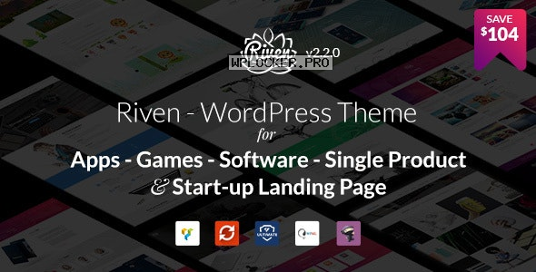 Riven v2.3.6 – WordPress Theme for App, Game, Single Product Landing Page