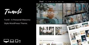 Tumli v2.1 – A Personal Masonry Style WordPress Theme