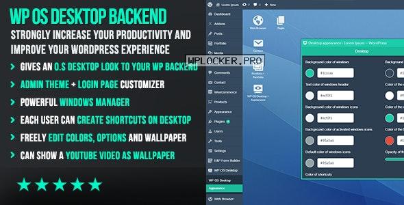WP OS Desktop Backend v1.159 – More than a WordPress Admin Theme