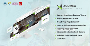 Acumec v1.5 – Business Multipurpose WordPress Theme