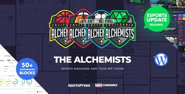 Alchemists v4.4.6 – Sports, eSports & Gaming Club and News WordPress Theme