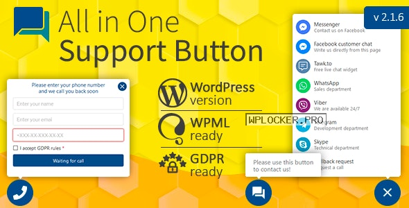 All in One Support Button + Callback Request v2.1.6