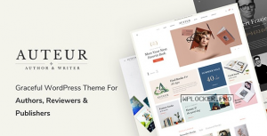 Auteur v4.7 – WordPress Theme for Authors and Publishers
