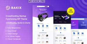Bakix – Crowdfunding Startup & Fundraising WordPress Theme