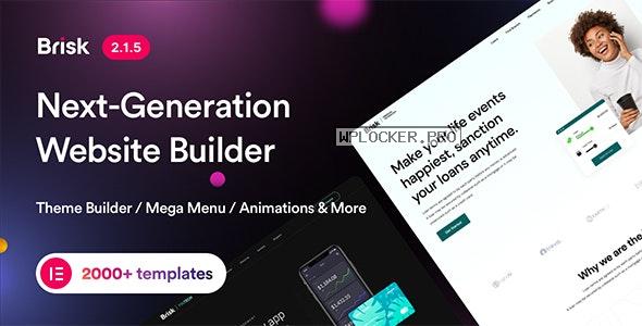 Brisk v2.1.5 – Multi-Purpose Elementor WordPress Theme