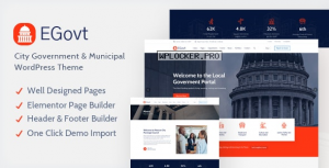 EGovt v1.1 – City Government WordPress Theme