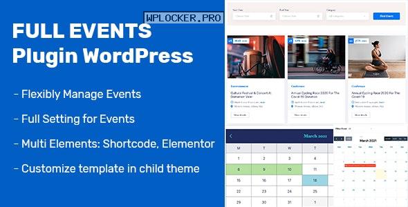 FullEvents v1.0.3 – Event Plugin WordPress