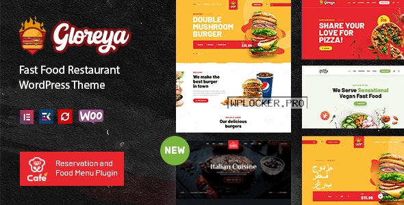 Gloreya v2.0.4 – Fast Food WordPress Theme