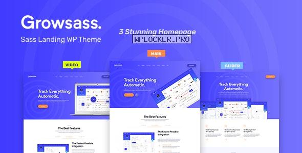 Growsass v1.0.6 – Software Landing Page WordPress Theme