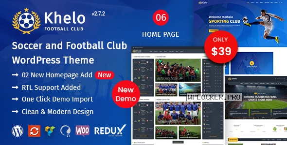 Khelo v2.7.2 – Soccer WordPress Theme