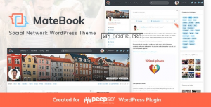 Matebook v1.1 – Social Network WordPress Theme