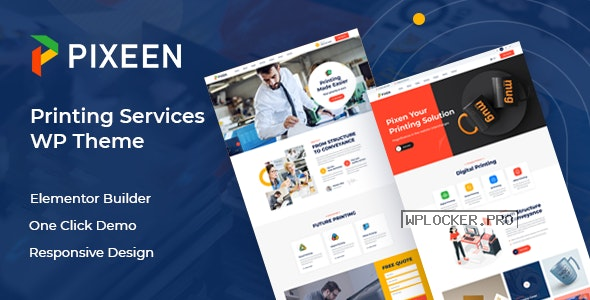 Pixeen v1.0.4 – Printing Services Company WordPress Theme + RTL