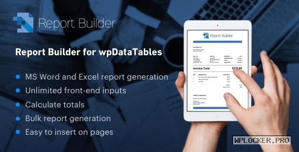 Report Builder add-on for wpDataTables v1.3.4