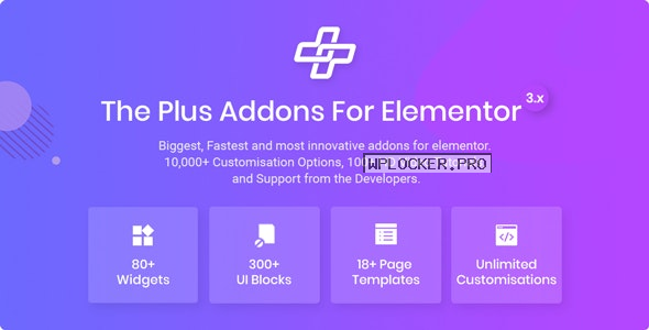 The Plus v5.0 – Addon for Elementor Page Builder WordPress Plugin